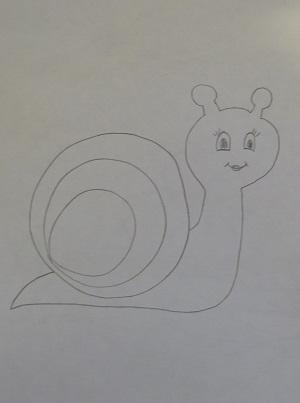 улитка-рисунок
