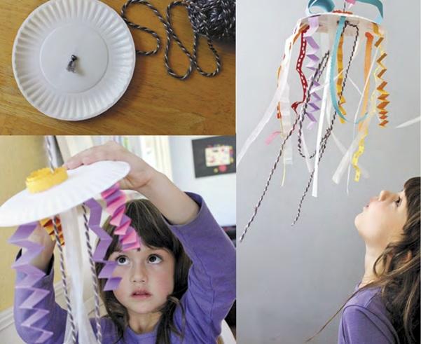 Подвесная бумажная медуза
