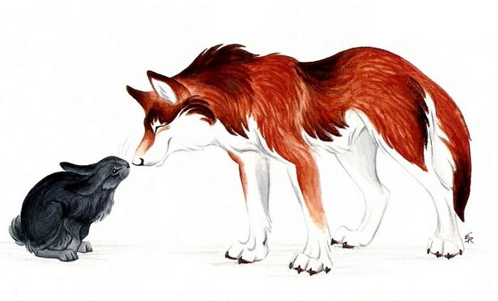 лис и заяц