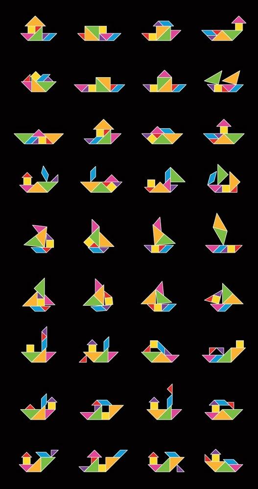 Схемы танграм 1