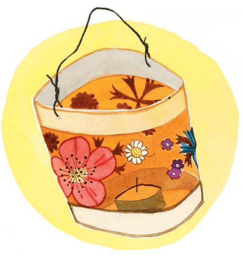 Фонарик для летнего праздника