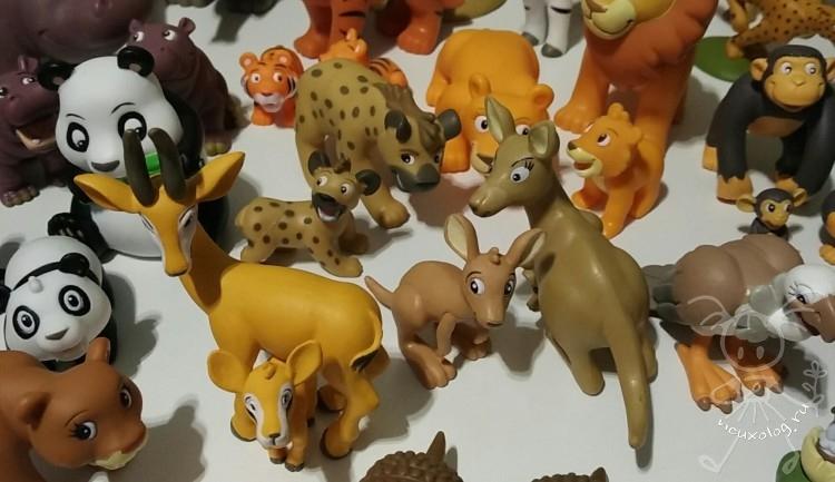 Гиена, кенгуру и газель