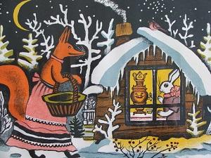 Иллюстрация к сказке Зайкина избушка