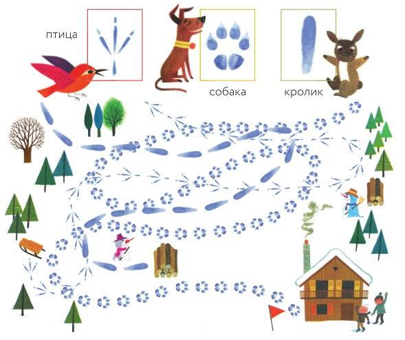 Кто из животных добежал до тёплого домика