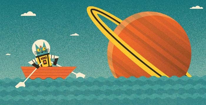 Сатурн — наименее плотная планета